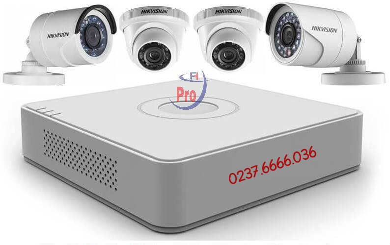 Trọn bộ 4 camera Hikvision DS-2CE16COT-IR 1.0MP