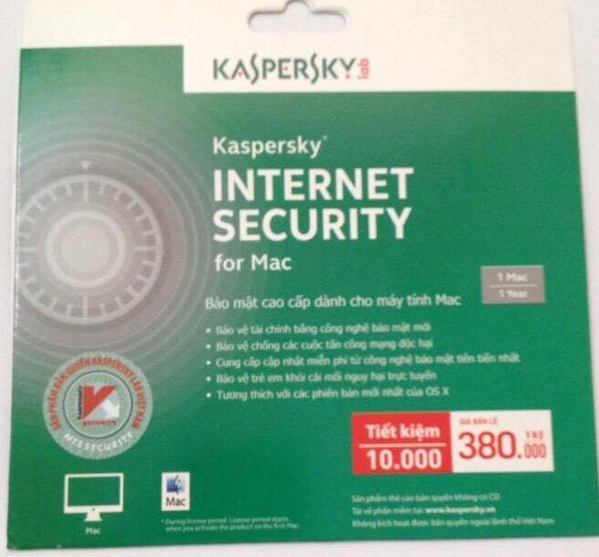Kaspersky Internet Security cho Mac