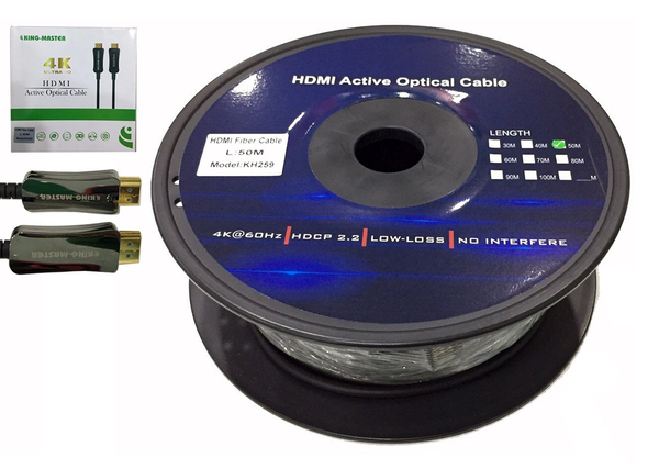 CÁP HDMI 2.0/4K - 50M ACTIVE OPTICAL KINGMASTER (KH259)