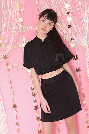 China town skirt (Black) - M