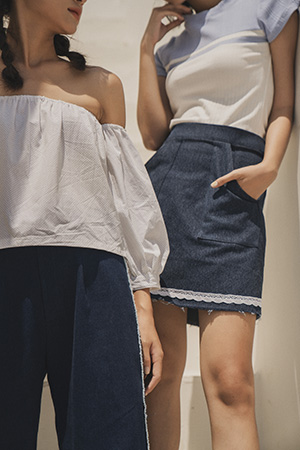 0519 Vintage Denim Skirt