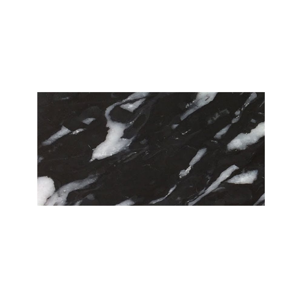 Milky Flash Black Polished  Marble