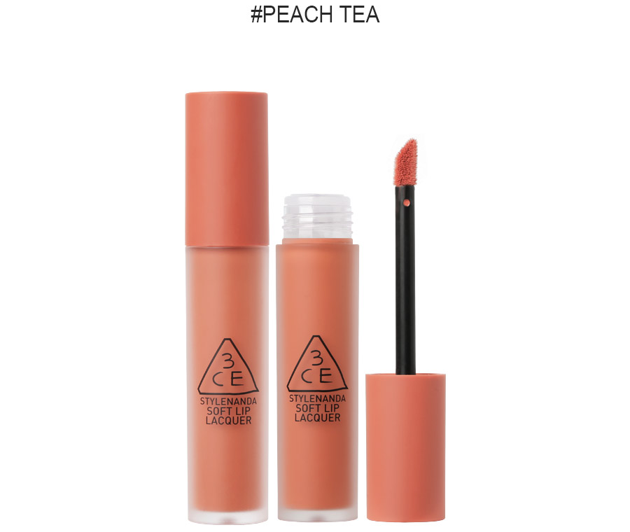 Son 3CE Soft Lip Lacquer # peach tea