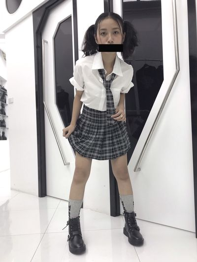 Set Shirt + Plaid Skirt + Tie