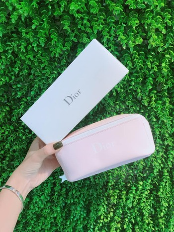 Túi make up Dior Hồng