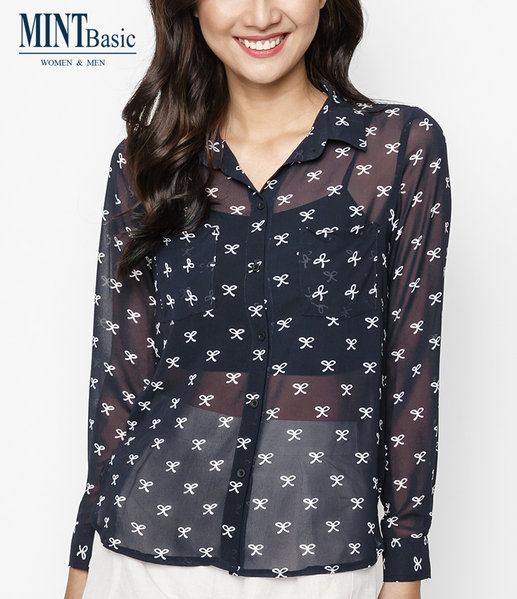 Cotton Shirt ( NAVY )