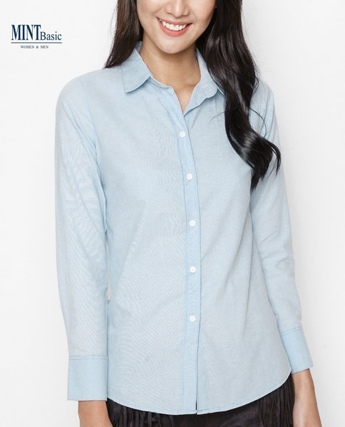 Cotton shirt_Slimfit ( LIGHT BLUE )