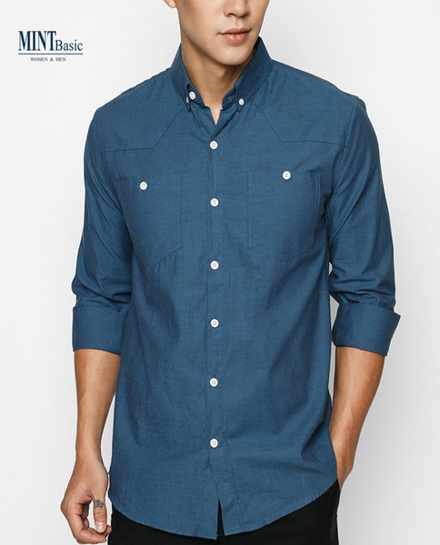 Slim-fit Cotton Shirt ( IN )