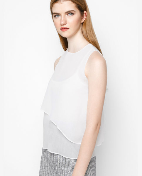 DOUBLE LAYER TOP ( WH )