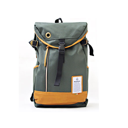Balo Bianchi Flap Canvas Backpack Grey
