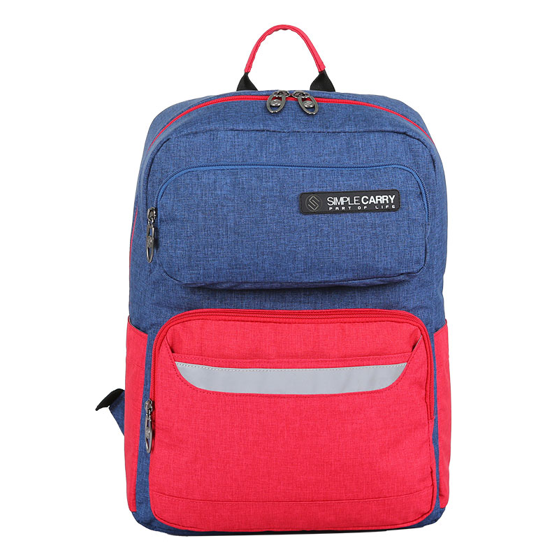 Balo Simplecarry Issac Safety 1 L.Navy/D.red