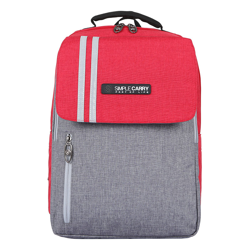 Balo Simplecarry Issac Safety 2 Red/Grey