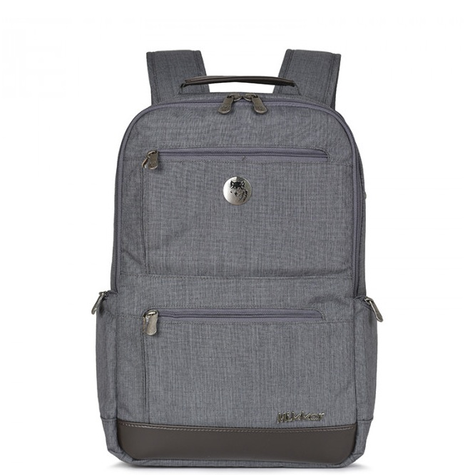 Balo Mikkor The Abraham Backpack Dark Mouse Grey