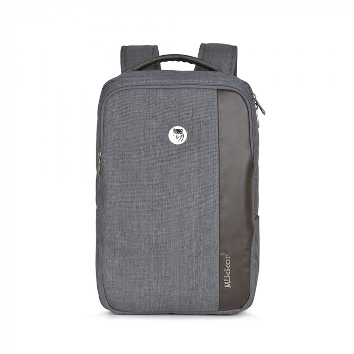 Balo Mikkor The Bryant backpack Dark Mouse Grey