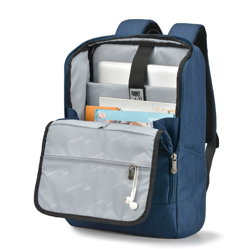 Balo laptop Mikkor The Lewie Backpack Navy 2