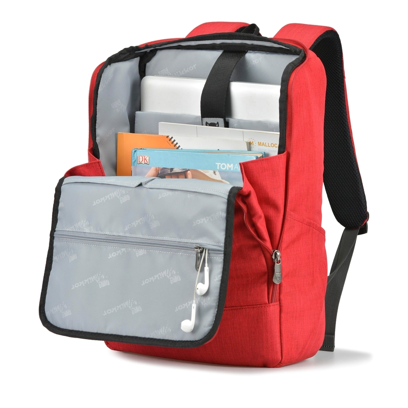 Balo laptop Mikkor The Lewie Backpack Red 3