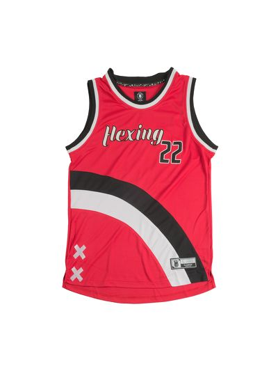Flexing Basketball Jersey Red