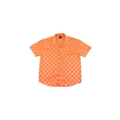 After Party Checkerboard Short Sleeve Shirt - Pink