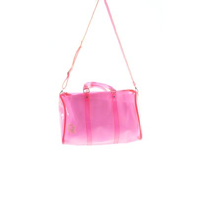 'CZ' Crystal Clear Duffle Bag - Neon Pink