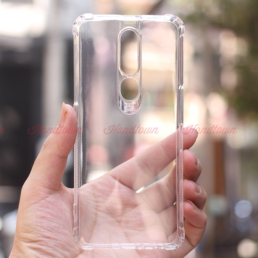 Ốp Oppo F11 Pro  silicon dẻo trong suốt chống sốc Viền Chống Trơn