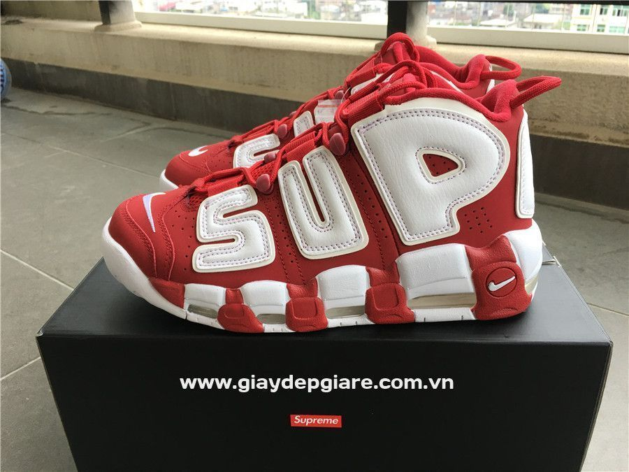 fake supreme uptempo red Just Me and Supreme