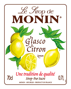 Siro Chanh vàng Monin (Glasco Citron Lemon syrup) - chai 700ml