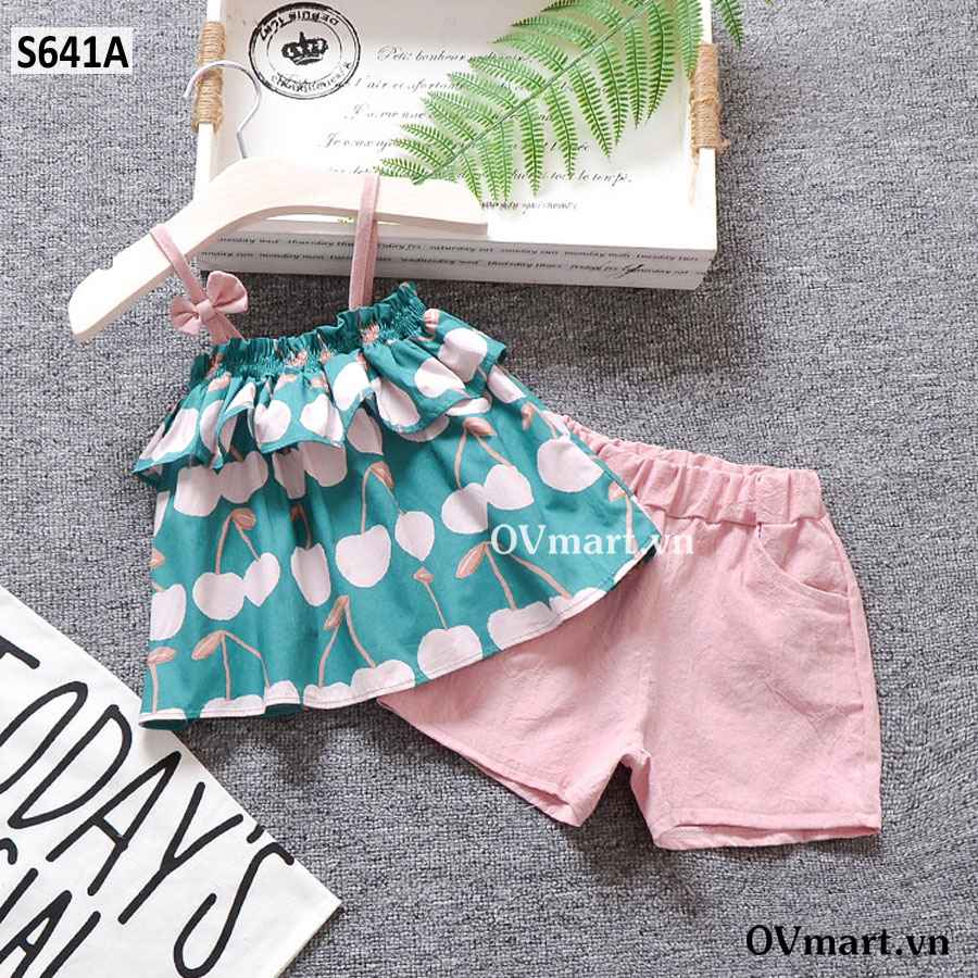 S641-Set 2D Cherry Hồng