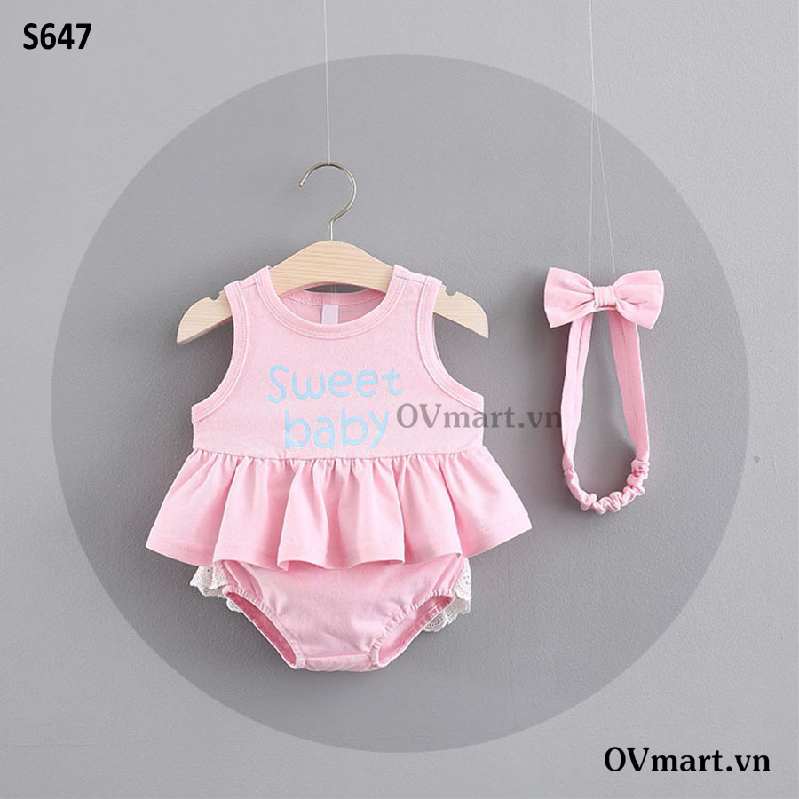 S647-Set 3L Hồng Sweet Baby