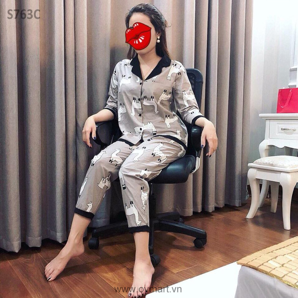 S763C-Bộ Ngủ Mom Ghi- S(40-47kg)
