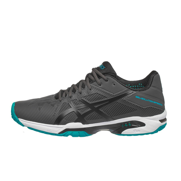Giày Tennis Asics Gel Solution Speed 3 Gr/Bk/Bl E600N.9590