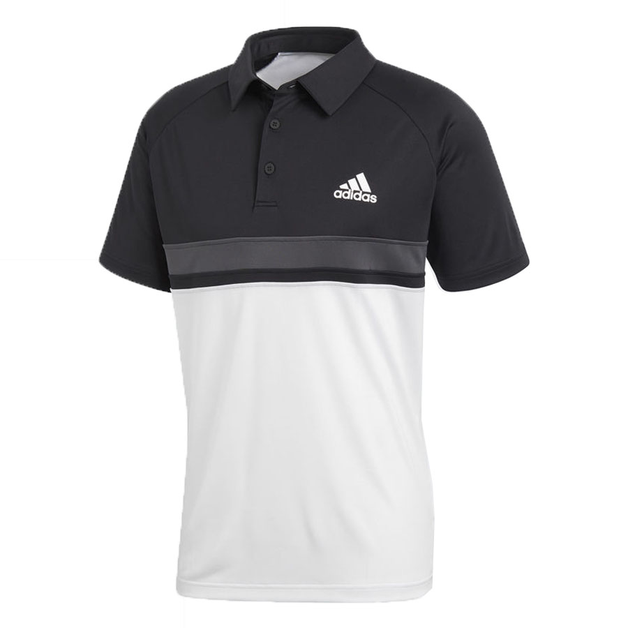 Áo Tennis Adidas Club Textured Polo Black/White CE1420