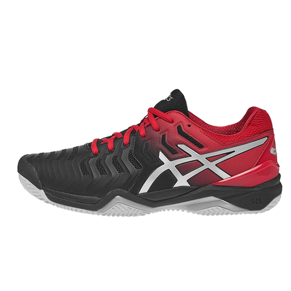 Giày tennis Asics Gel Resolution 7 Black/Red 2018 E701Y-001