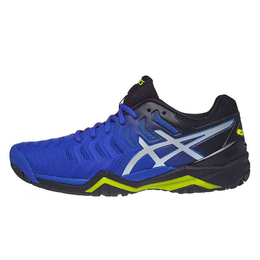 Giày tennis Asics Gel Resolution 7 Black/Blue/Yellow 2019 E701Y-407