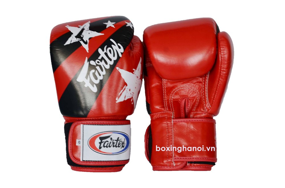 GĂNG TAY BOXING FAIRTEX NATION ĐỎ