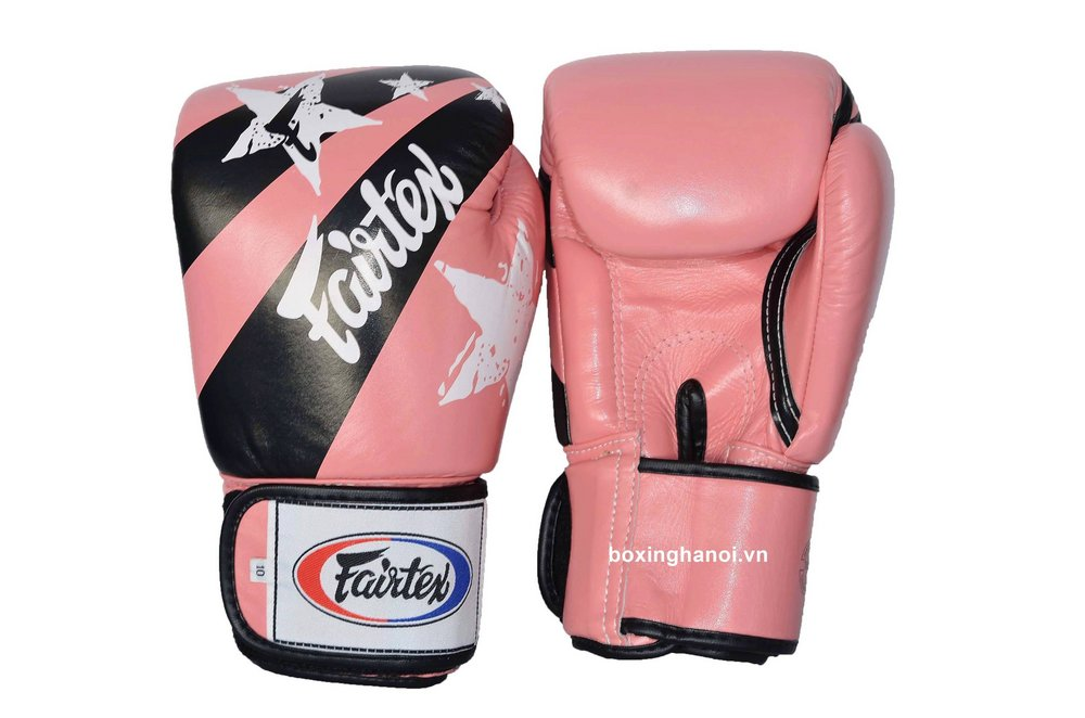 GĂNG TAY BOXING FAIRTEX NATION HỒNG