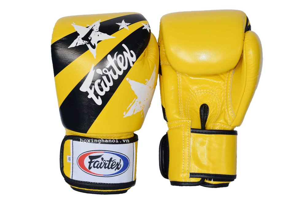GĂNG TAY BOXING FAIRTEX NATION VÀNG