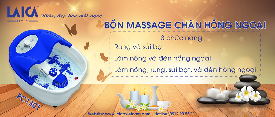 Bồn Massage Chân Laica PC1301