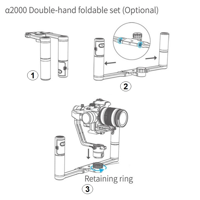 Feiyu A2000 2-Hand Holder Kit