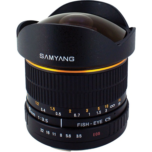 Samyang 8mm f/3.5 Asph IF MC Fisheye-Mới 95%