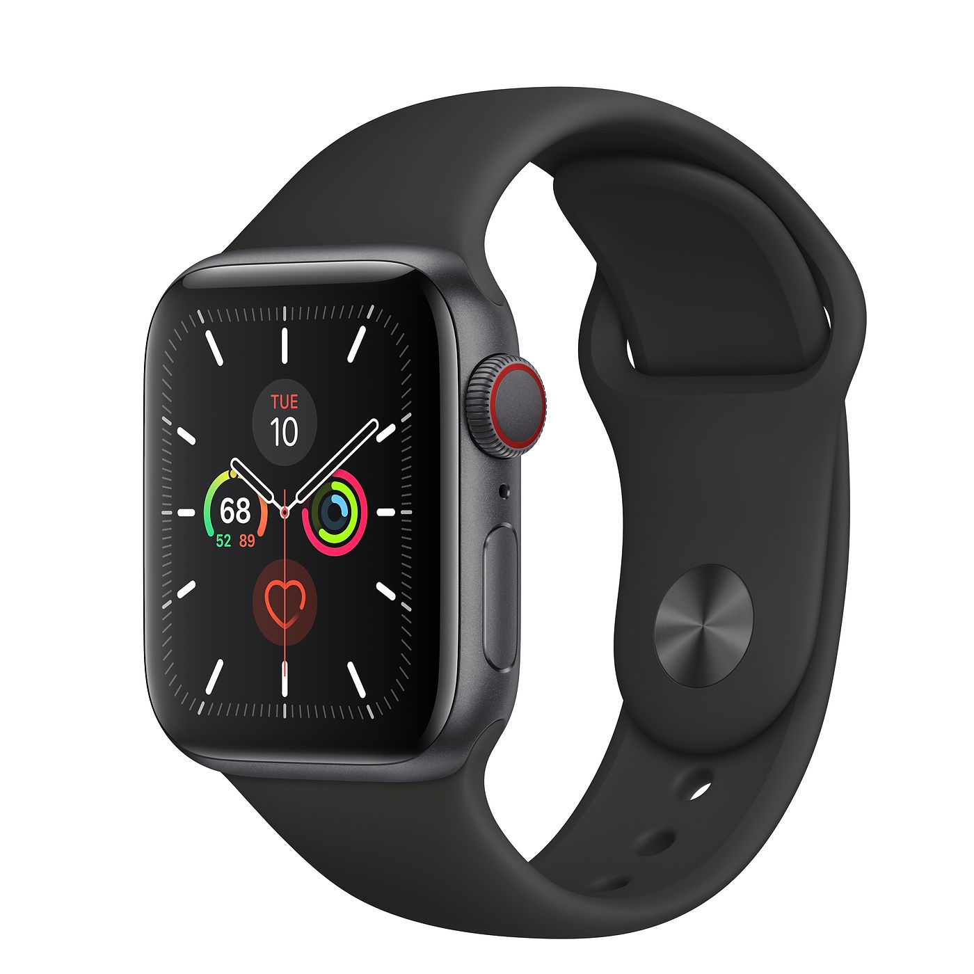 Đồng hồ Apple Watch Series 5 (GPS + Cellular, 44mm) - Space Gray Aluminum Case with Black Sport Band