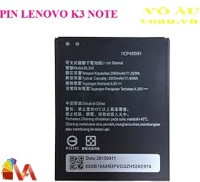 PIN LENOVO K3 NOTE