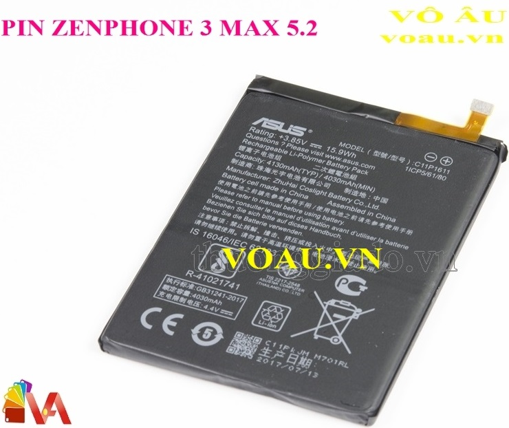PIN ASUS ZENPHONE 3 MAX 5.2