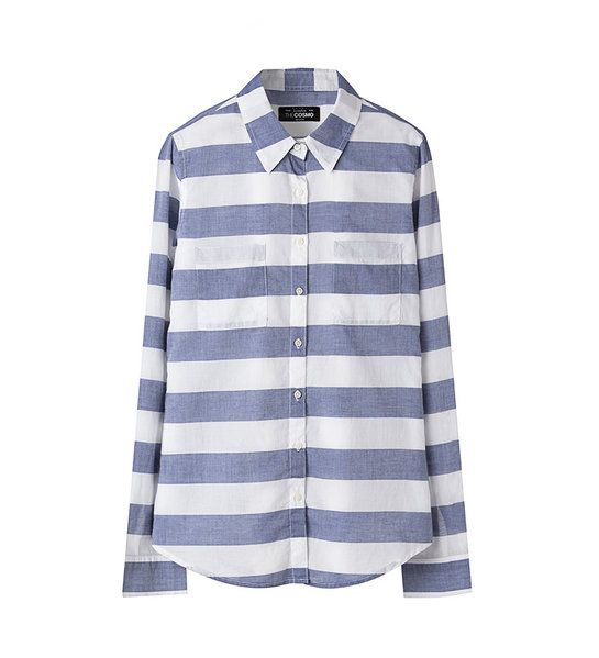 STRIPE SHIRT WITH 2 POCKETS GR