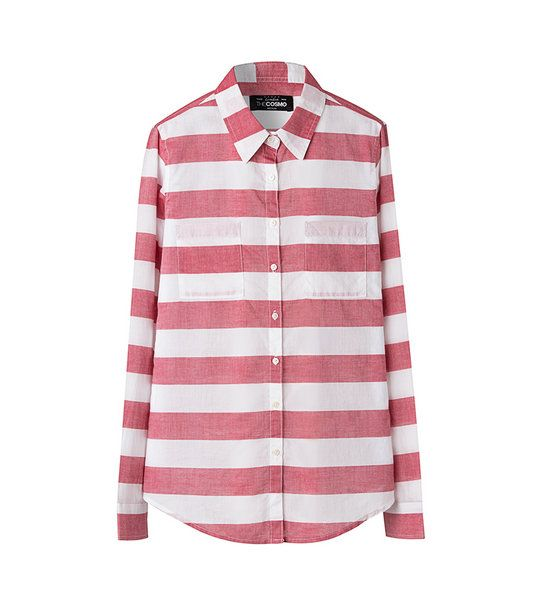 STRIPE SHIRT WITH 2 POCKETS RE