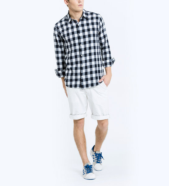 CHECKED SHIRT (NAVY)