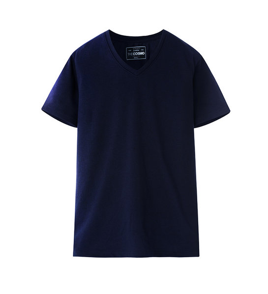 V-NECK T-SHIRT (NAVY)