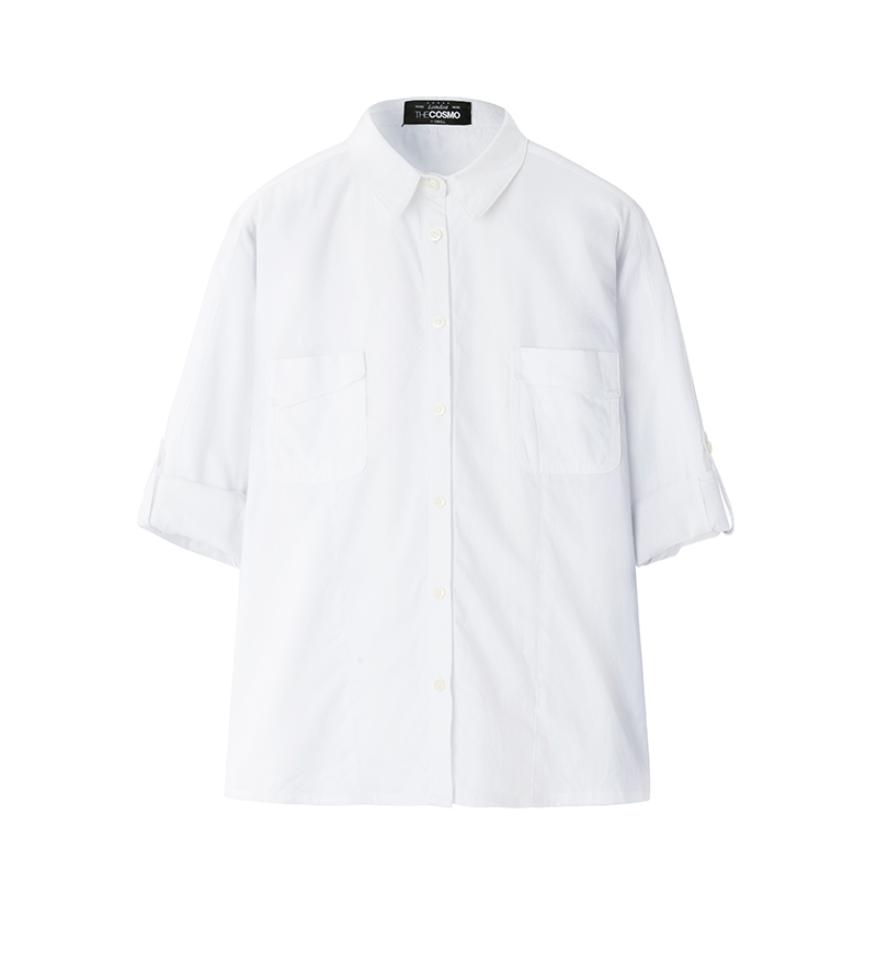 CHEST-POCKET SHIRT (WHITE)
