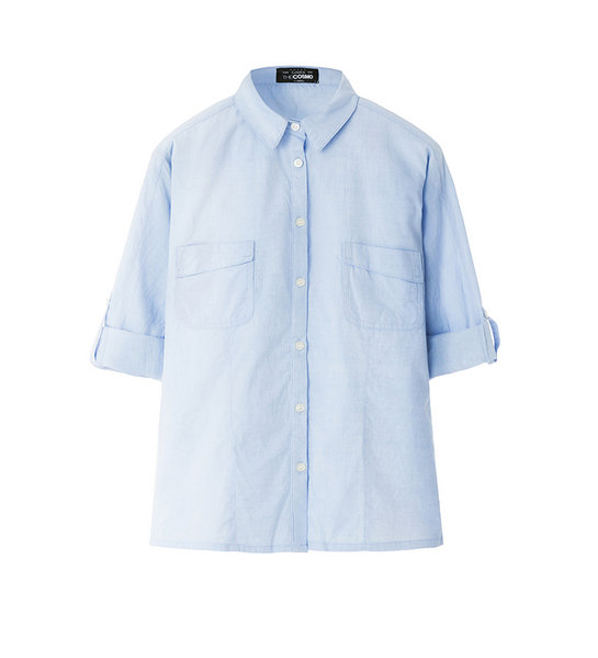 CHEST POCKET OXFORD (BLUE)