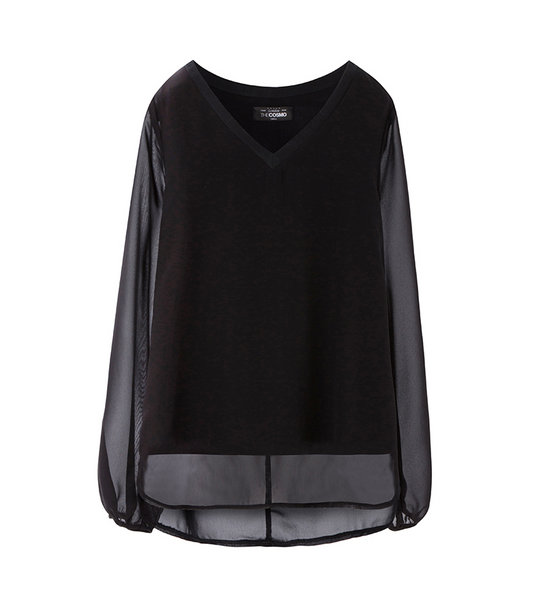 SHEER BLOUSE (BLACK)