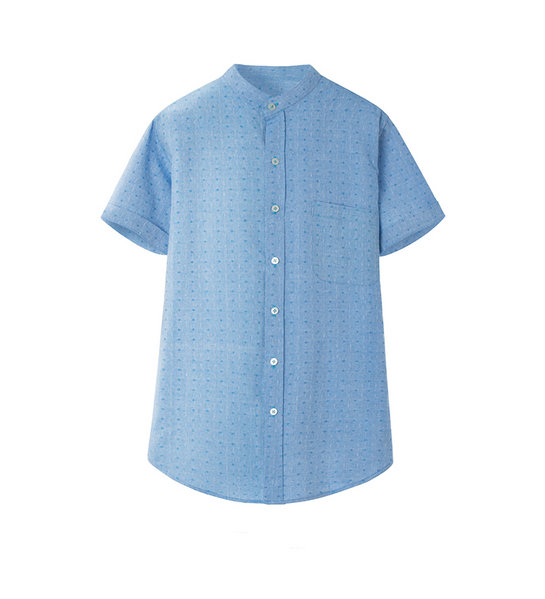 PRINTED SHIRT (LIGHT BLUE)